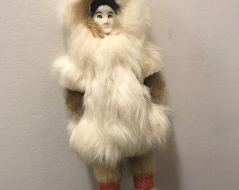 real fur inuit eskimo style doll