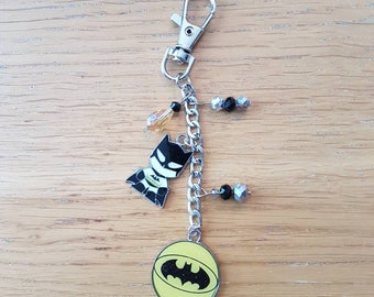DC Comics inspired Batman key chain or bag charm.