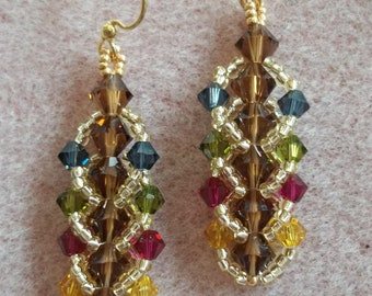 Flat Spiral Stitch Earring PDF Bead Weaving Tutorial (INSTANT DOWNLOAD)