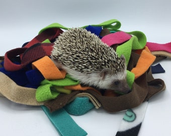 Fleece Strips, Toys and Bedding for Hedgehogs, Guinea Pigs, Rats, Sugar Gliders etc.
