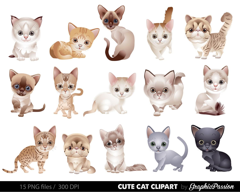 Cat Clipart Clip Art Kitten Clipart Clip Art Cute animals