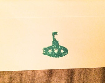The Little Submarine Rubber Stamp - 2 x 2 Inches