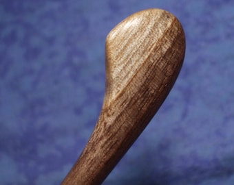 Hair stick shawl pin Hand carved from two toned black walnut wood Skinny 4 inch
