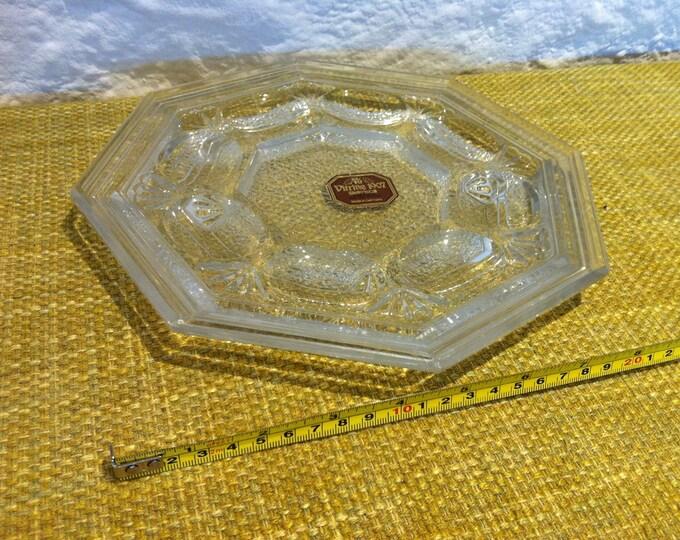 Vintage WMF Egg Glass Plate lead crystal