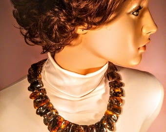 Genuine 100% natural Baltic Amber necklace,  108 gr., Length 50 cm