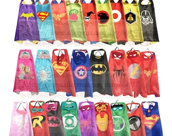 Free Shipping!! Superhero capes and felt masks  (Special order only)
