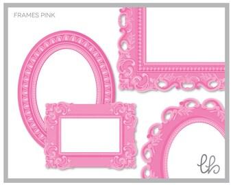 Ornate Frames Pink