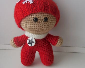 "Knitted doll ""Yo-Yo"""