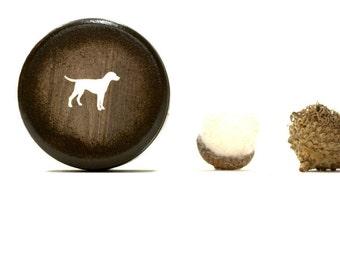 Dog Powder Box,  Wooden Box, trinket box, Faux Grain, Desk Organizer,  Handmade, Powder Box, Jewelry Box, Dog Lover, Pet, Mans Best Friend