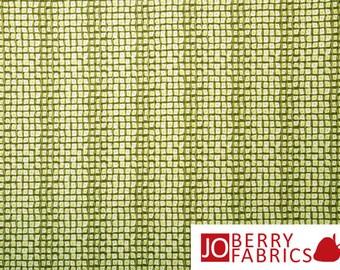 Savannah Green Dotted Squares Fabric