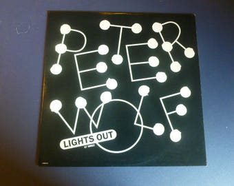 """Peter Wolf Lights Out 12"""" Single Vinyl Record LP V-7834-1/2 EMI America Records 1984"""