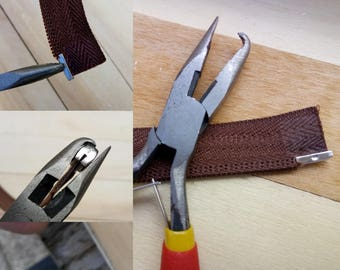 Crimping tool boxes zippers match clip special repair FabricationBas of separable zipper sleeves