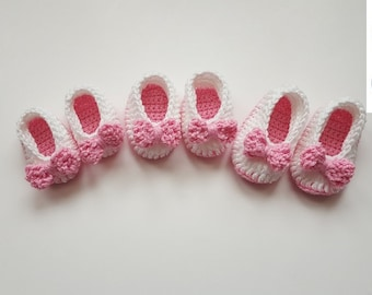 CROCHET PATTERN/Crochet Baby Booties with Bow Pattern/Baby Bootie Pattern/PDF Pattern