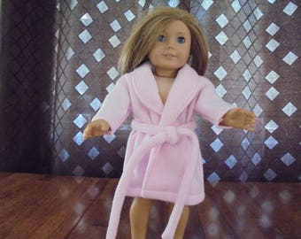 """Handmade for 18"""" Dolls - Pink Doll Robe - 18"""" Doll Clothes"""