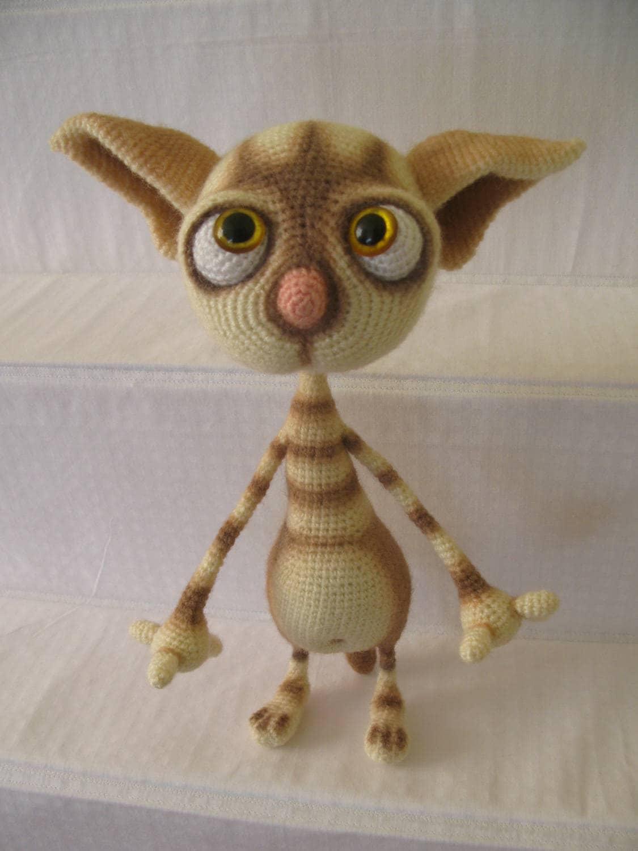 Kuscheltier Plüsch Katze Kunst Puppe häkeln Katze