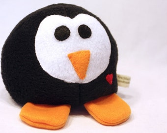 Black and White Penguin - Whee One -  Stuffed  Animal - Stuffed Toy - Plushie