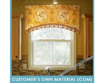 """Customer's Own Material (COM) - Arched Rod Pocket Valance, 35 to 48"""" Wide"""