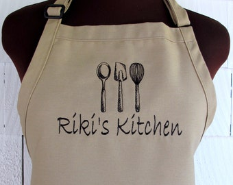 Personalized Apron for the baker - Customized apron with name-Custom Apron
