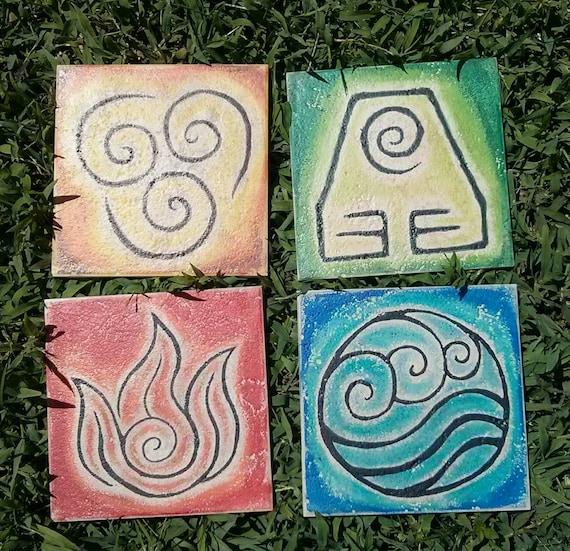 Avatar The Last Airbender Nation Element Symbols On