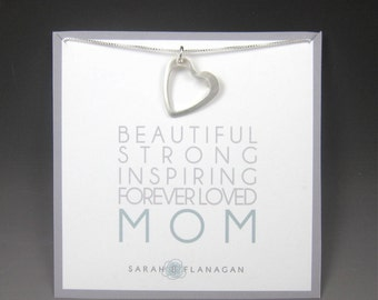 Mom Necklace / Heart Necklace