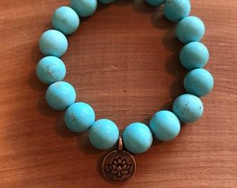 Turquoise Howlite Gemstone Bracelet