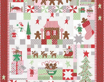 SUGAR PLUM CHRISTMAS Quilt Kit - Moda Fabric by Bunny Hill Designs + Quilt Pattern