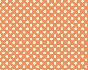 KNIT - Orange Small Dots From Riley Blake