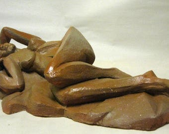 Original Sculpture - One of a kind Clay piece - Stylized figure
