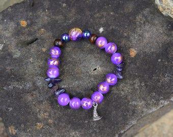 Wizard Elastic Beaded Bracelet