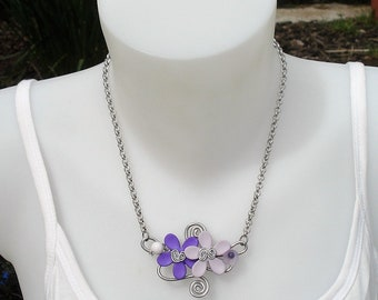 Necklace - necklace Orchid purple and mauve