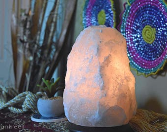 White Himalayan Salt Lamp