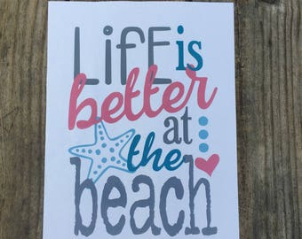 Life is Better at the Beach Iron-On Vinyl Decal~ Glitter Iron-On Vinyl Decal~ Iron-On Vinyl Decal ~ Beach Iron-On Decal~ DIY KIDS SHIRT