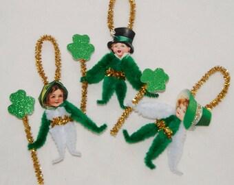 Saint Patrick's Day  Chenille Ornaments Children, Shamrocks, Bump Chenille (92)
