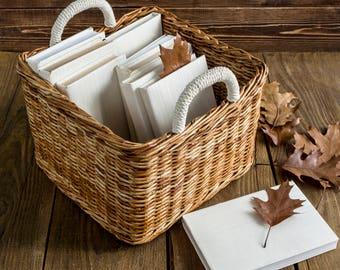 Wicker storage basket Storage bin Laundry basket Toy storage Basket bin Closet organizer Storage basket Square basket Organization bin