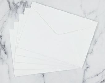 C5 Invitation Envelopes in White 229mm X  162mm to Fit A5 Made in Australia