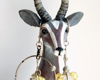 Helium Atom Earrings for the Science Geek, Bohr Model Earrings, Chemistry Earrings, Hoop Earrings, Science Earrings, Science Teacher Gift