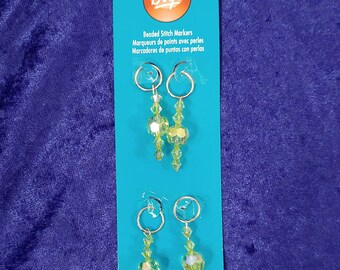 Boye Beaded Stitch Markers Package of 4 for Knit or Crochet