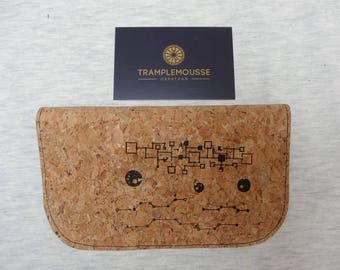 Tobacco pouch in Cork and electronic circuits pattern