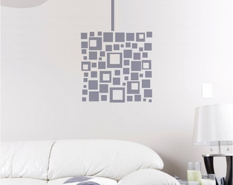 Abstract Squares - Chandalier - Vinyl Wall Decal