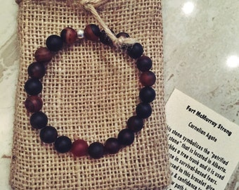 Fort McMurray Natural Stone Bracelet, 100% proceeds will ge donated to the Red Cross for the victims of the Alberta fire