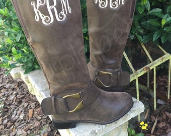 Monogrammed Boots, Ladies Boots, Boots