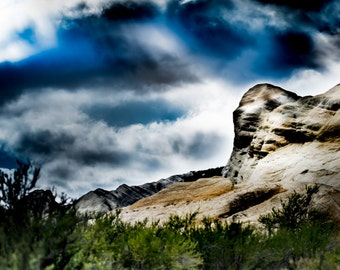 Ojai California - Sespe Piedra Blanca Facing Mountain - Exclusive Color Exhibition Photograph (downloadable digital image)