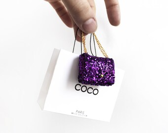 Coco Parisian sequin handbag
