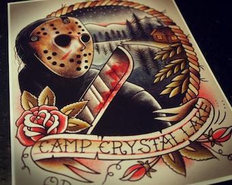 Jason Voorhees Tattoo Art Print