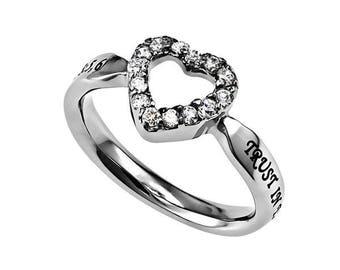 """Open Heart Ring """"Trust"""""""