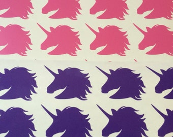24 Unicorn Stickers, Unicorn Party Stickers, Unicorn themed party, Unicorn Party decoration, Unicorn envelope seals, Unicorn favors stickers
