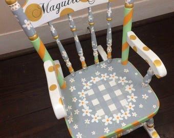 Personalized Rocking Chair for Kids, Personalized Kid's Rocker, Nursery Decor Nursery Furniture