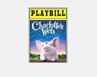 Theater / Show Charm - Playbill Play Bill - Charlotte's Web