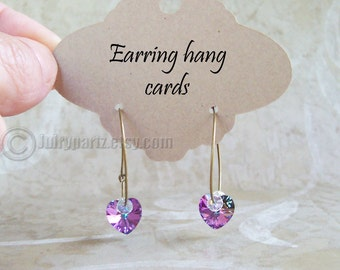 40•CARLA•Hang Tags•Earring Cards•Earring Display•Hoop Earring Display•Hoop Earring Card•Lever Back Ear Cards