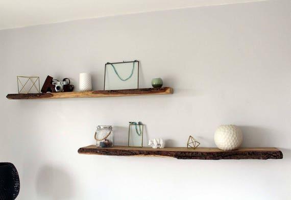 tag re bois tag re ch ne tag re corce bois brut. Black Bedroom Furniture Sets. Home Design Ideas